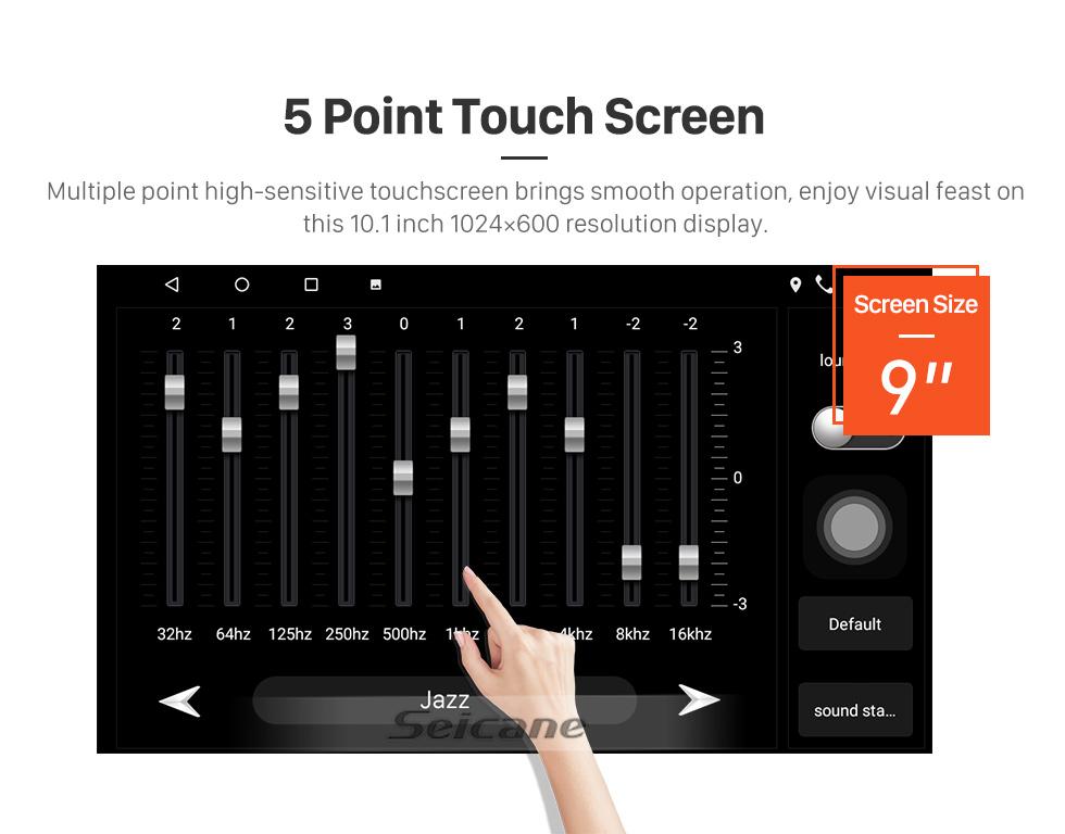 Seicane Écran tactile HD 9 pouces pour 2018 Honda Elysion Radio Android 10.0 Système de navigation GPS avec prise en charge Bluetooth Carplay