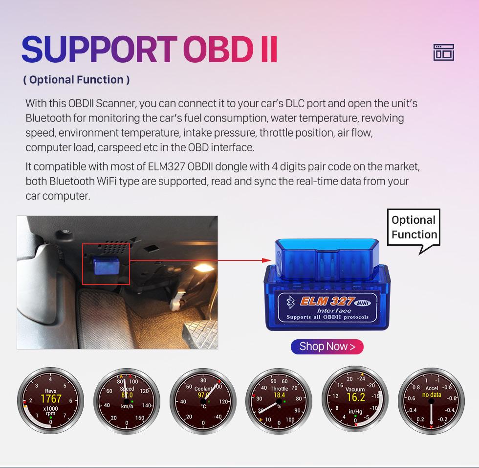 Seicane 9 inch 2007-2011 Hyundai Elantra Android 9.0 Radio GPS Navigation System with Mirror link Bluetooth OBD2 DVR digital TV TPMS Steering Wheel Control