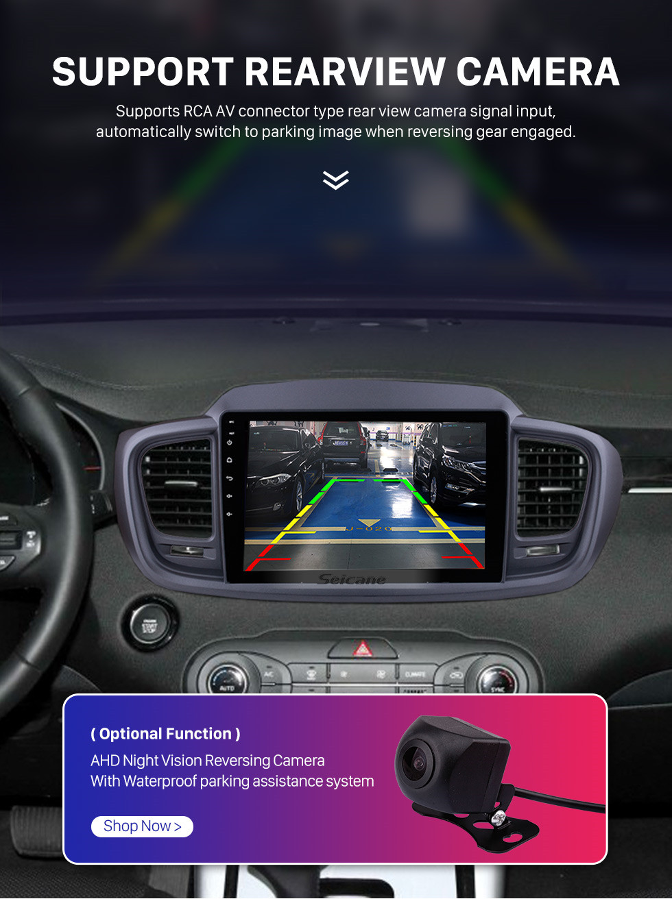 Seicane 10,1 Zoll Android 10.0 1024 * 600 Touchscreen Radio Auto Multimedia Player Für 2015 2016 KIA SORENTO (LHD) GPS Navigation Upgrade Head Unit mit 3G WiFi Radio Bluetooth Musik USB Mirror Link Unterstützung DVR OBD2 Backup Kamera Lenkradsteuerung TPMS
