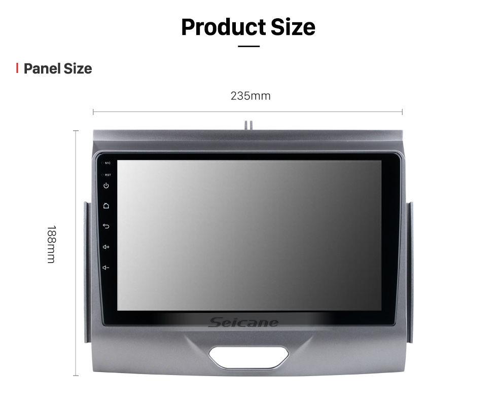 Seicane 9 inch Android 10.0 For 2015 Ford RANGER Radio GPS Navigation System with HD Touchscreen Bluetooth Carplay support OBD2