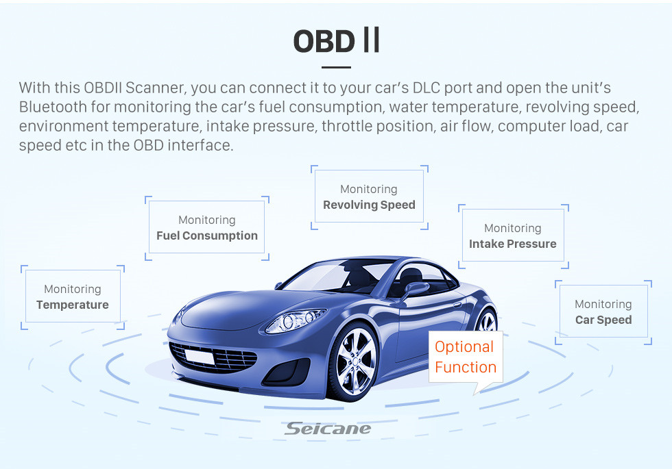 Seicane Android 6.0 Universal One DIN Car Radio Navegación GPS Reproductor multimedia con Bluetooth WIFI Soporte de música Enlace espejo SWC DVR 1080P Video