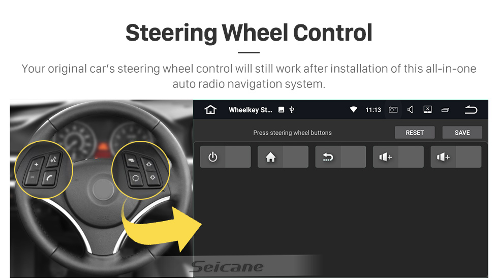 Seicane OEM Android 10.0 для 2008-2012 Hyundai i20 Radio с Bluetooth 9-дюймовый сенсорный HD-экран Система GPS-навигации Поддержка Carplay DSP