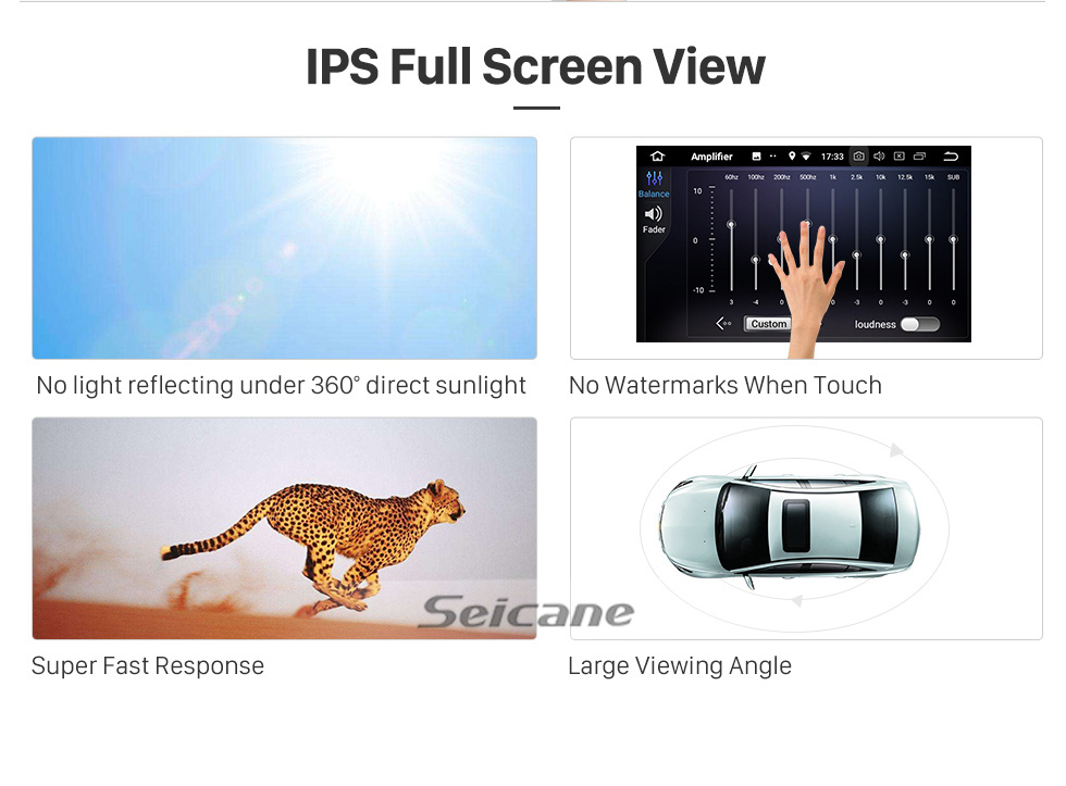 Seicane Android 10.0 HD Touchscreen 9 inch for 2015-2018 Sepah Pride car Radio with Bluetooth GPS Navigation System Carplay manual air Conditioner