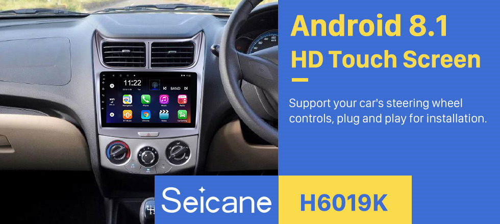 Seicane 8-core 9 inch Touchscreen Android 8.1 head unit for 2009-2013  Chevy Chevrolet Sail Radio Stereo GPS Navigation with Bluetooth WIFi