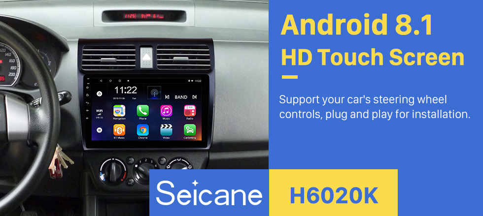 Seicane 10,1 Zoll 2005-2010 Suzuki Swift Android 8.1 HD-Touchscreen GPS-Navigation Radio Digital TV Spiegel Link 3G / 4G Wifi Bluetooth Musik Lenkradsteuerung