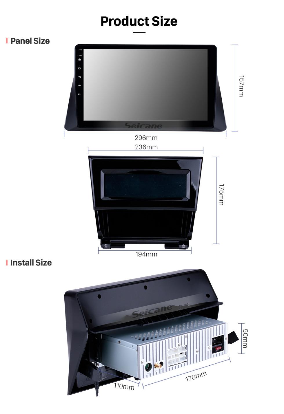 Seicane 10,1 pouces 2008 2009 2010 2011 2012 Honda accord 8 Android 8.1 Radio GPS Navigation Bluetooth Musique WIFI Connexion Miroir USB Support Stéréo de Voiture DVR OBD2 Contrôle au volant Caméra de recul