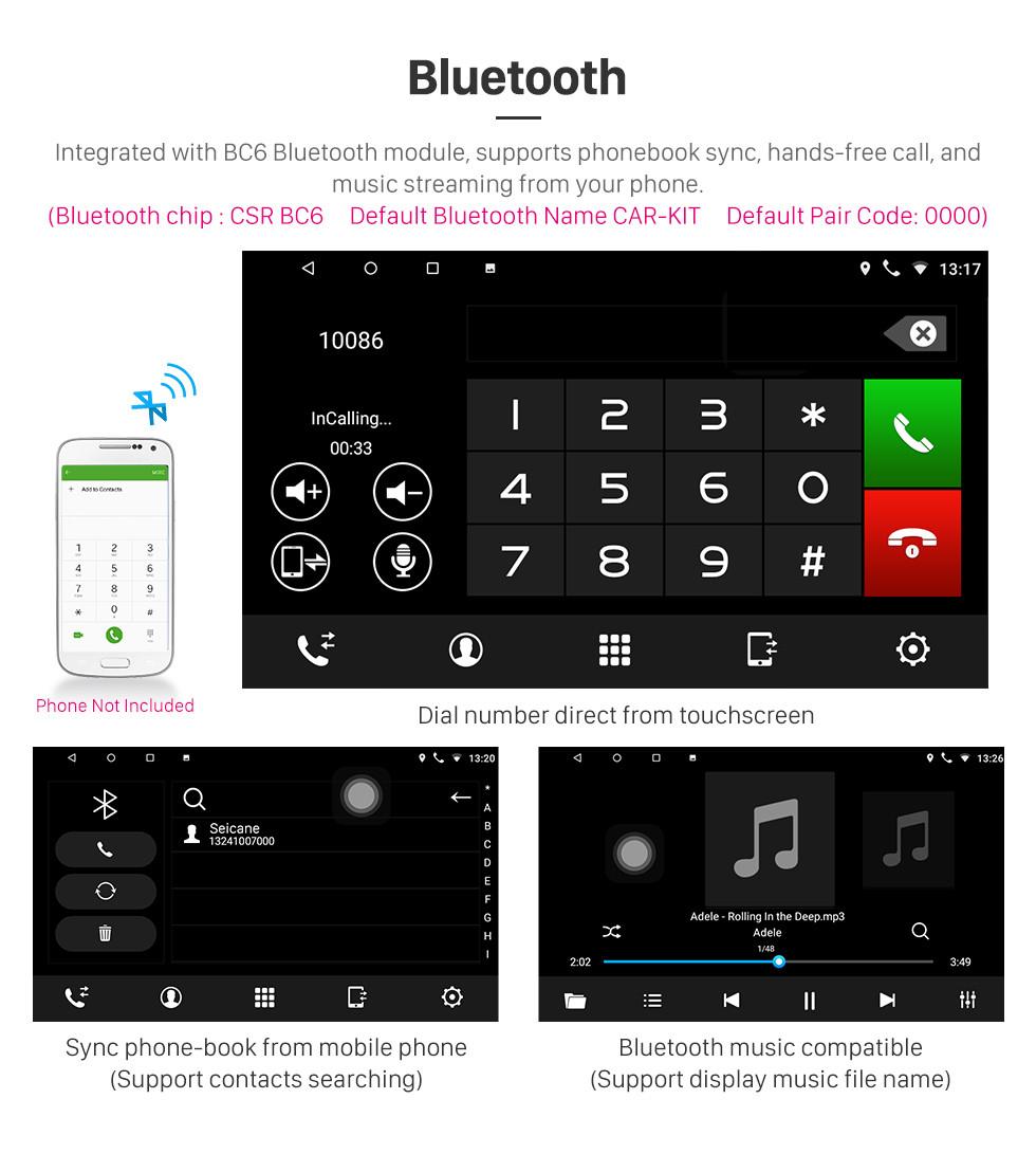 Seicane 10.1 pouces 2008 2009 2010 2011 2012 Accord Honda 8 Android 8.1 Radio GPS Navigation Bluetooth Musique WIFI USB Miroir Lien Voiture Stéréo Soutien DVR OBD2 Contrôle du volant Caméra de secours