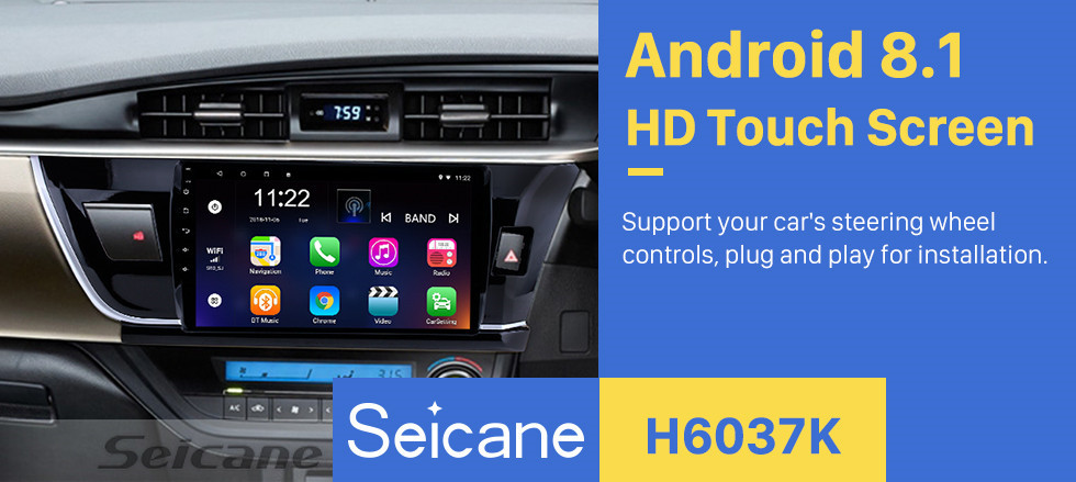 Seicane 10.1 Inch HD touchscreen Radio GPS Navigation System For 2014 Toyota Corolla RHD Bluetooth Support Steering Wheel Control Touch Screen 3G WiFi Carplay