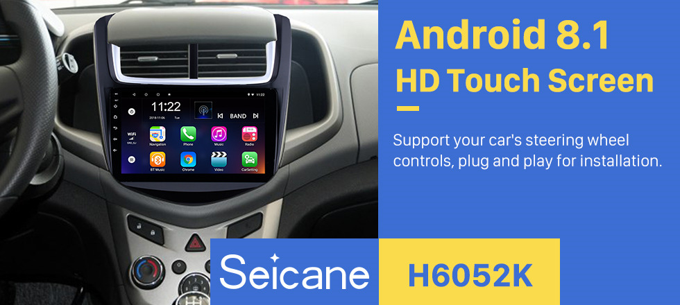 Seicane 9 Inch OEM Navigation System Android 8.1 Radio For 2014 Chevy Chevrolet Aveo 1024*600 Touch Screen MP5 Player TV tuner Remote Control Bluetooth music