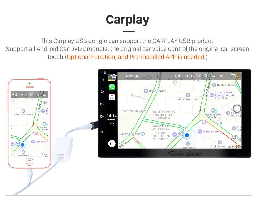 Seicane Andriod 10.0 HD Touchscreen 9 Zoll 2009 Honda Insight Linkslenker Autoradio GPS-Navigationssystem mit Bluetooth-Unterstützung Carplay
