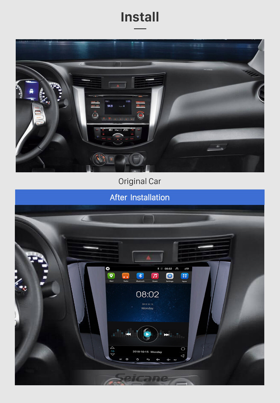 Seicane OEM HD Touchscreen 9.7 inch Android 6.0 Radio for 2018 Nissan NAVARA Terra with GPS Navi System Mirror link Bluetooth music WIFI support 3G OBD2 DVR SWC