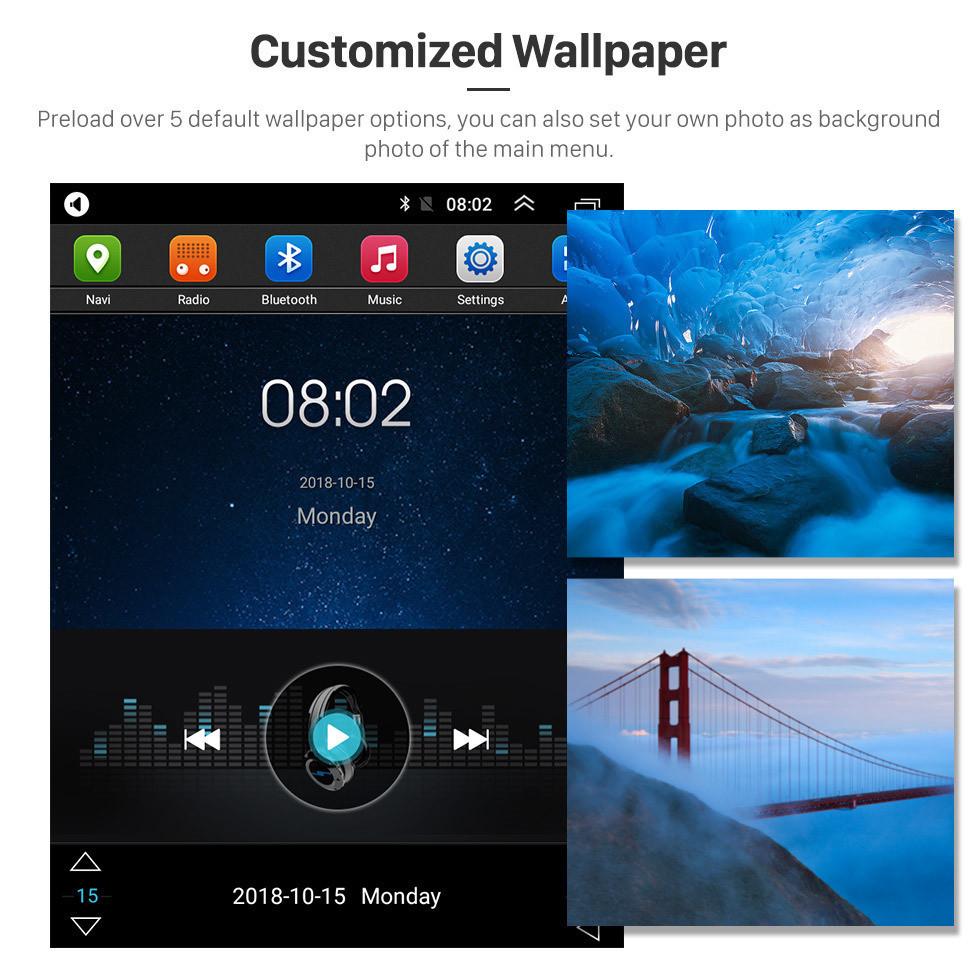 Seicane OEM HD écran tactile 9,7 pouces Android 9.1 Radio pour 2018 Nissan NAVARA Terra avec GPS système Navi lien miroir musique Bluetooth WIFI soutien 3G OBD2 DVR SWC