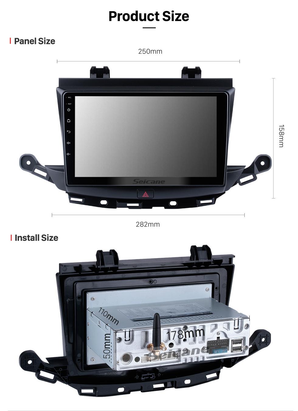 Seicane Andriod 10.0 HD Touchscreen 9 Zoll 2002-2006 Buick Regal Linkslenker Autoradio GPS-Navigationssystem mit Bluetooth-Unterstützung Carplay