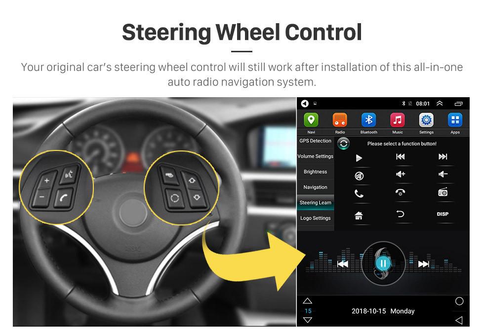 Seicane Android 9.1 9.7 pouces HD Écran tactile 2008 2009 2010 2011 Toyota RAV4 GPS de navigation Radio AUX AUX WIFI 4G Carplay OBD2 SWC DVR Caméra de recul TV numérique