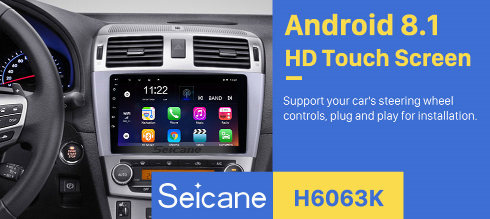 Seicane Android 8.1 GPS Navigation 9 inch Radio for 2009-2013 Toyota AVENSIS with 1024*600 Touchscreen Bluetooth Phone Wifi Mirror Link Steering Wheel Control support DVR