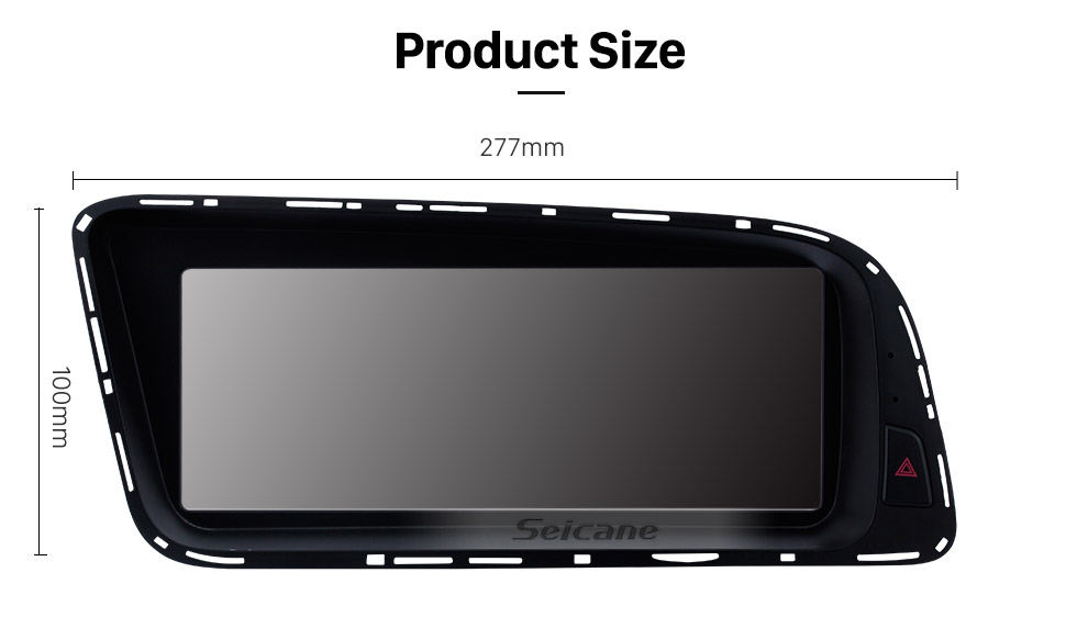 Seicane 8.8 pulgadas Android 10.0 HD Touchescreen Radio para 2013 2014 2015 AUDI Q5 LHD Low Version Actualización de navegación GPS Stereo FM / AM Música Bluetooth Wifi Carplay USB Volante Control de soporte DAB +