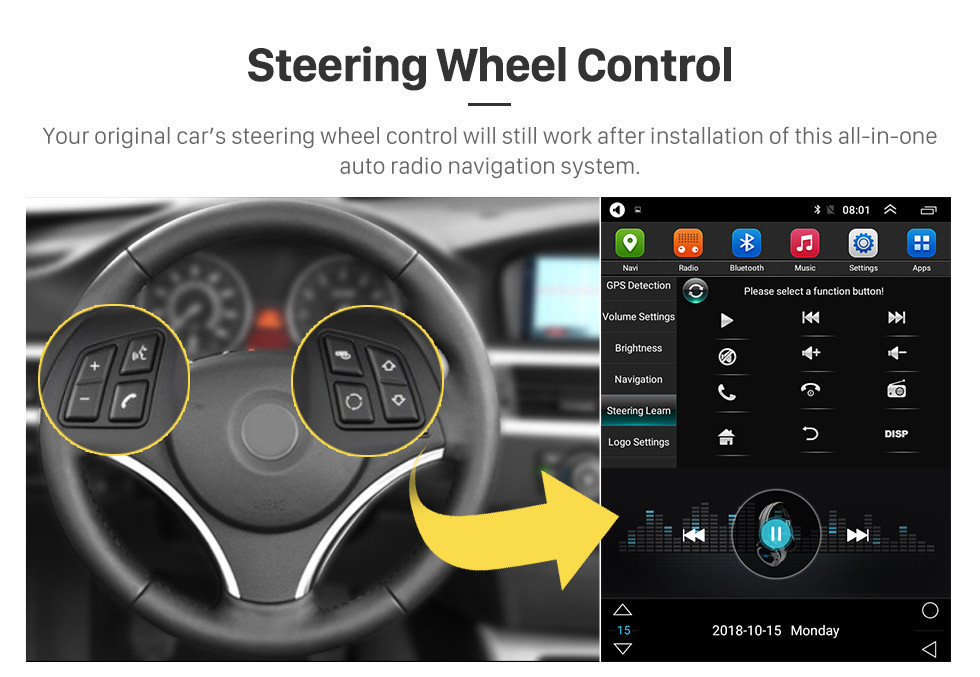 Seicane Mercado de accesorios 9.7 pulgadas Android 9.1 Radio para 2010-2014 Subaru Outback Navegación GPS HD Pantalla táctil Estéreo Bluetooth USB MP4 música Espejo Enlace SWC 4G WIFI