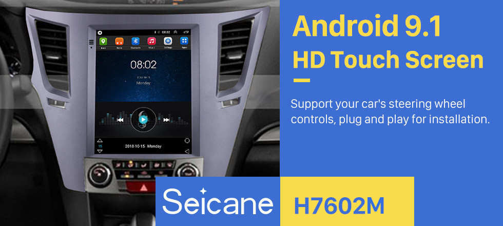 Seicane Aftermarket 9,7 Zoll Android 9.1 Radio für 2010-2014 Subaru Outback GPS Navigation HD Touchscreen Stereo Bluetooth USB USB MP4 Musik Mirror Link SWC 4G WIFI