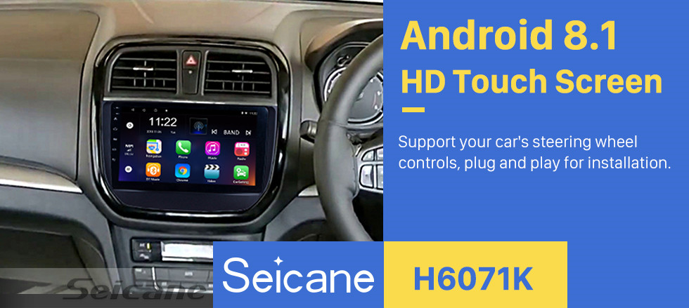 Seicane Android 8.1 2016 2017 2018 Suzuki BREZZA 9 inch GPS Navi Multimedia Player with 1024*600 Touchscreen Bluetooth FM Music Wifi USB support SWC OBD2 TPMS 3G