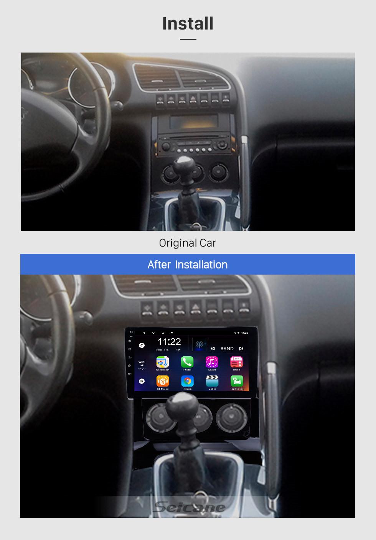 Seicane Alles in einem Android 8.1 HD Touchscreen 9-Zoll-Autoradio für 2009-2012 Peugeot 3008 mit Bluetooth-Musik GPS-Navigationssystem USB Wifi Lenkradsteuerung unterstützt DVR-Backup-Kamera OBD2