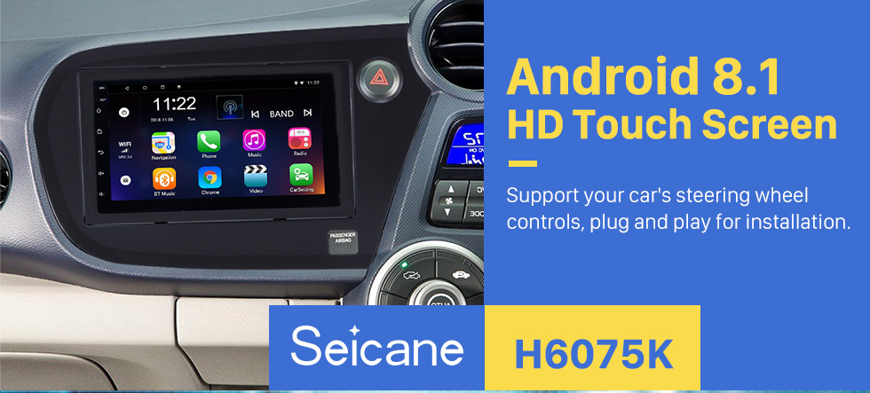Seicane 2009-2016 Honda Insight RHD 7 inch Android 8.1 Car Radio GPS Navigation with HD Touchscreen Bluetooth FM  Wifi Steering Wheel Control Mirror Link support DVR Backup Camera OBD2 3G Module
