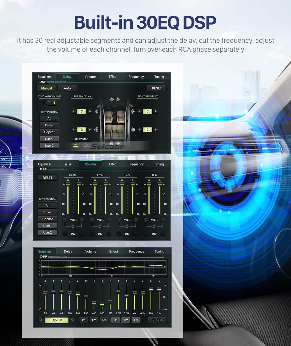 Seicane Android 10.0 2005-2011 Seat Leon GPS-DVD-Player im Dash-Radio-System mit HD-Touchscreen-Bluetooth-3G-WiFi-Spiegel-Link-OBD2-DVR-Rückfahrkamera