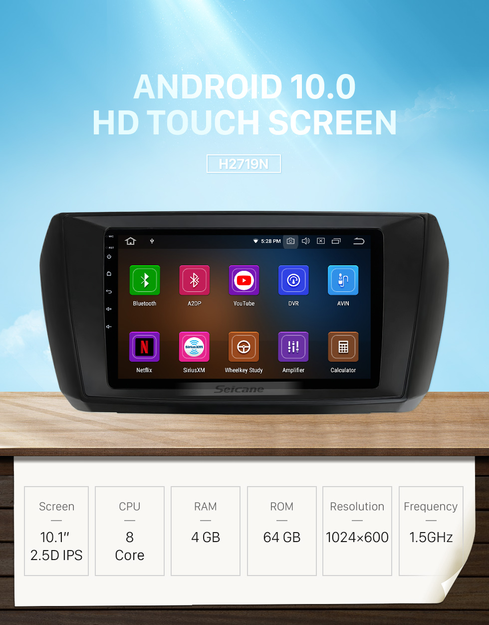 Seicane 10.1 inch Android 10.0 For 2020 FOTON TUNLAND E Radio GPS Navigation System with HD Touchscreen Bluetooth Carplay support OBD2