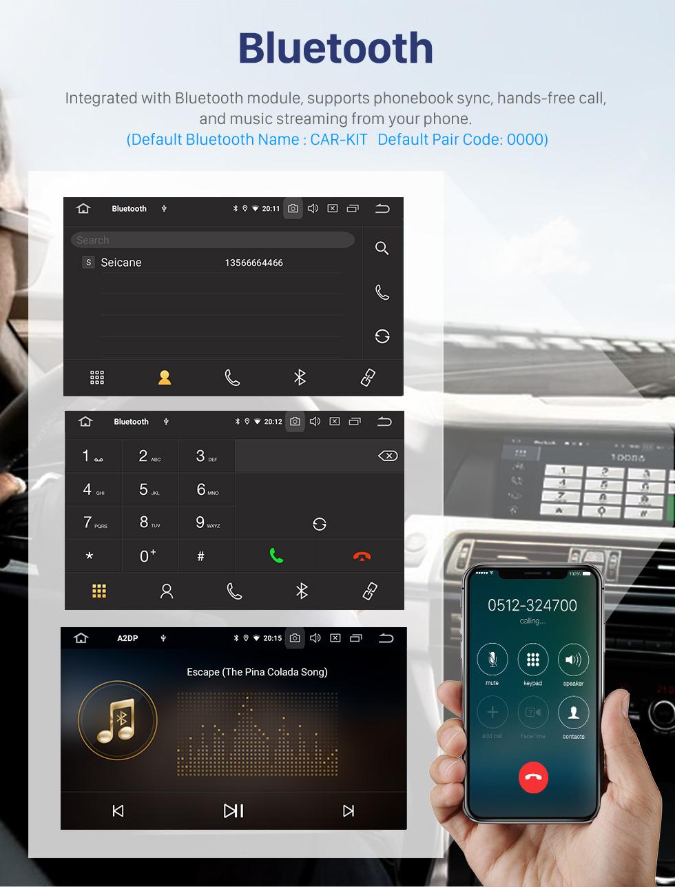Seicane Sistema de navegação GPS Android 10.0 de 10,1 polegadas para Mitsubishi LANCER 2007-2015 com tela de toque Bluetooth HD OBD2 DVR Câmera retrovisora TV 1080P Vídeo USB Controle do volante