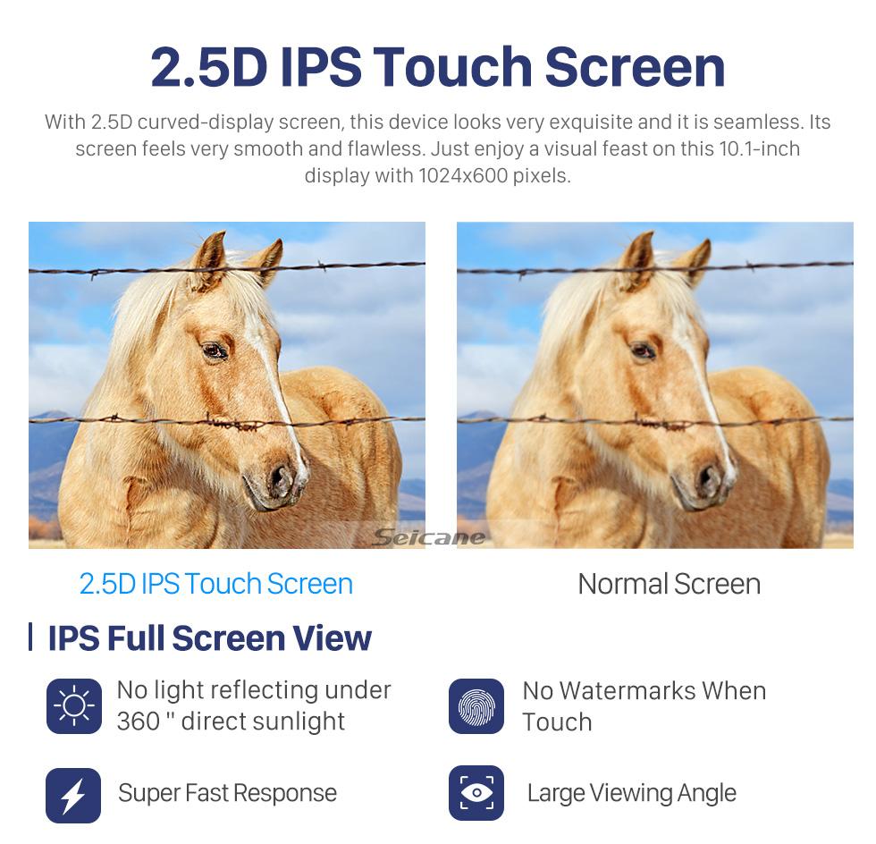 Seicane 10.1 inch 2014-2018 Skoda Yeti Android 10.0 GPS Navigation Radio Bluetooth HD Touchscreen AUX USB Carplay