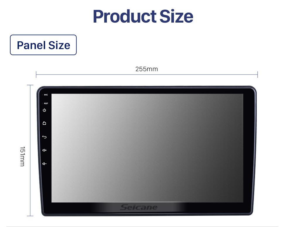 Seicane 10,1 pouces Android 10.0 pour 2013 2014 2015 2016 Trumpchi GA3 Radio Système de navigation GPS avec écran tactile HD Prise en charge Bluetooth Carplay