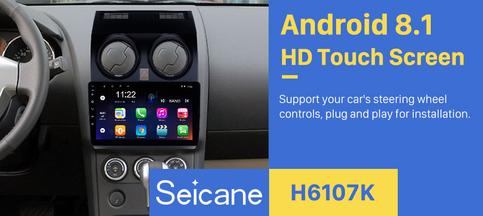 Seicane 2005-2018 NISSAN Qashqai 9 Zoll Android 8.1 Bluetooth-Radio für GPS-Navigation Bluetooth-Musik USB-Unterstützung Carplay DVR 3G WIFI OBD2 DVR