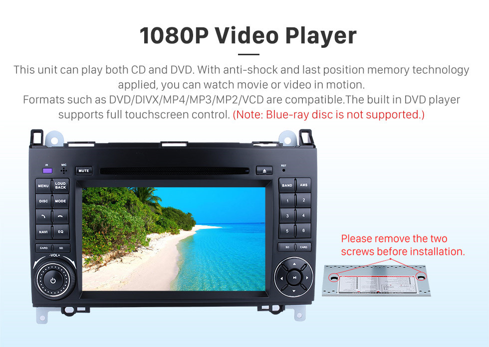 Seicane Android 8.1 Radio Head Unit 7 Inch HD Touchscreen For 2004-2012 Mercedes Benz B Class W245 B200 C Class W203 S203 C180 C200 CLK Class C209 W209 C208 W208 Car Stereo DVD Player GPS Navigation System Music Bluetooth 4G WIFI Support 1080P Video Backup Camera