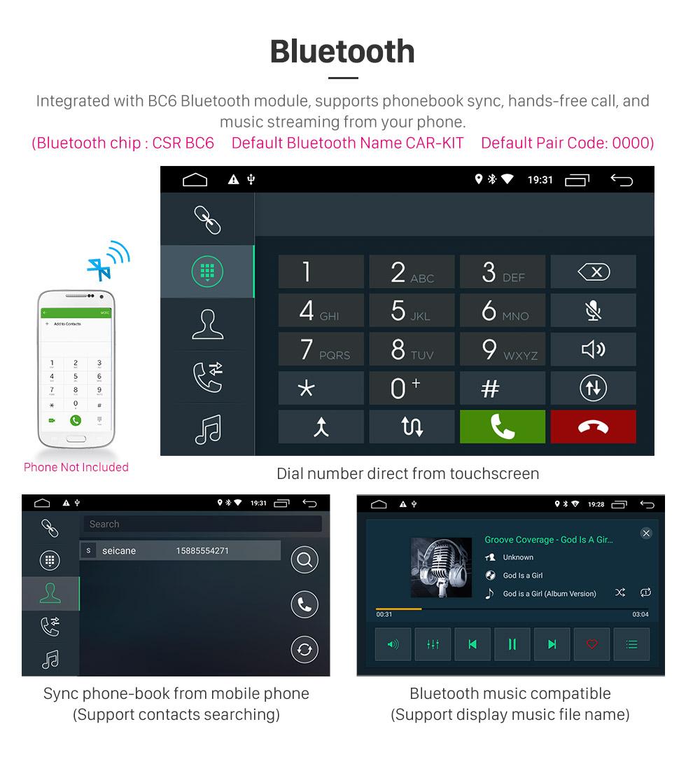 Seicane 7 pulgadas con Android 8.1 Radio de navegación GPS con pantalla táctil para 2008-2015 Toyota Sequoia / 2006-2013 Tundra con Bluetooth WIFI compatible con Carplay SWC TPMS
