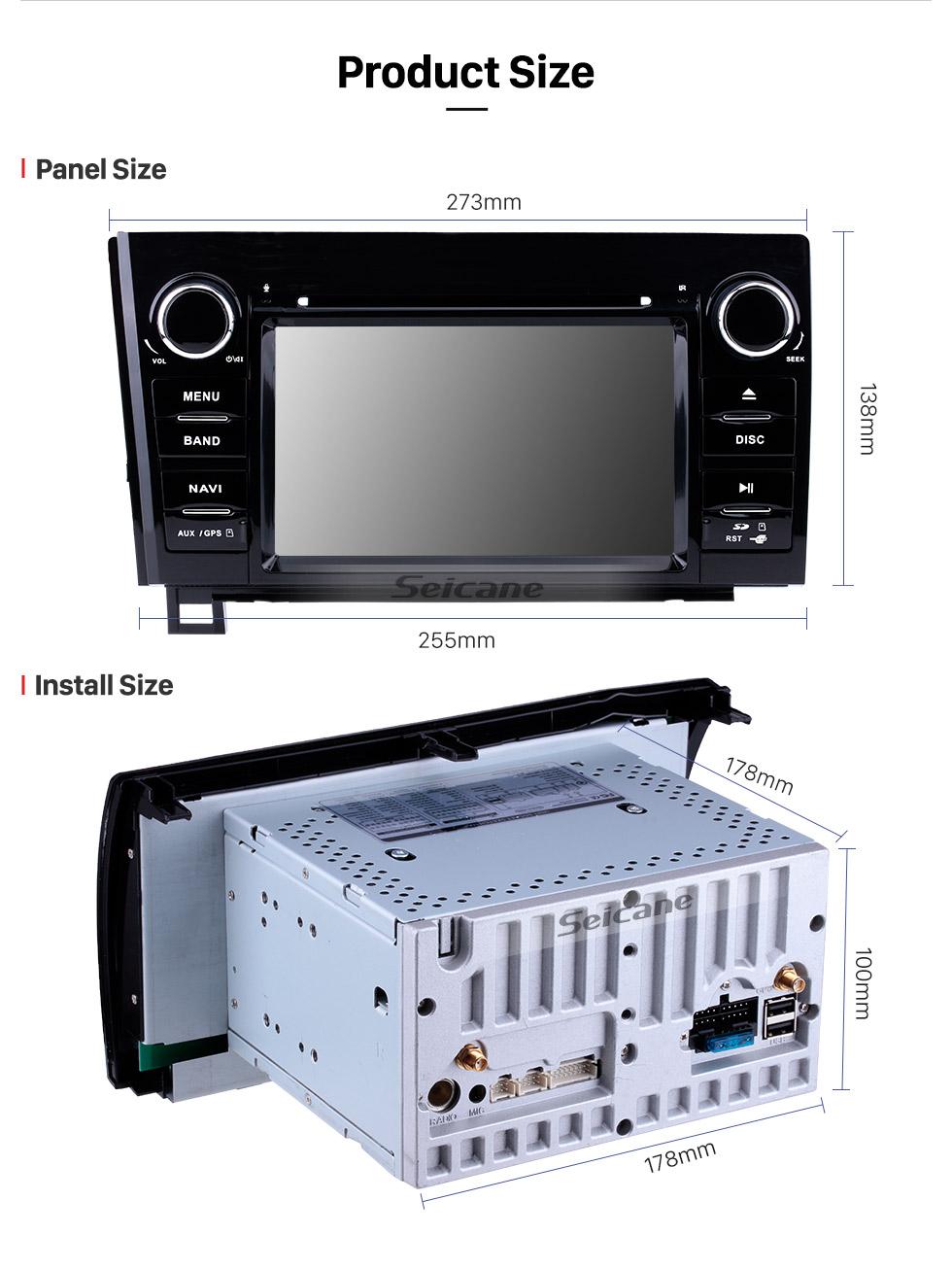 Seicane Radio de navigation GPS à écran tactile Android 8.1 de 7 pouces pour Toyota Sequoia / Toundra 2006-2013 2008-2015 avec prise en charge de Bluetooth WIFI Carplay SWC TPMS