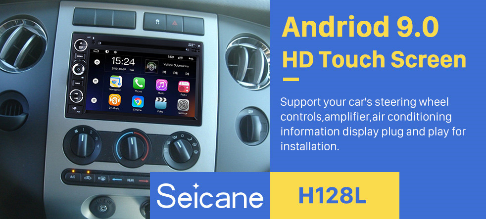 Seicane OEM 7 inch Android 8.1 Radio GPS navigation system for 2005-2009 Ford Mustang with Bluetooth DVD player HD 1024*600 touch screen OBD2 DVR Rearview camera TV 1080P Video USB SD 3G WIFI Steering Wheel Control