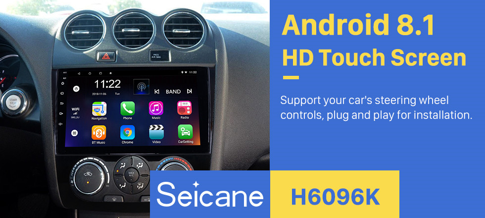 Seicane 9 inch Android 8.1 for Nissan Teana ALTIMA Manual A/C 2008-2012 Radio GPS Navigation System With HD Touchscreen Bluetooth support Carplay DVR