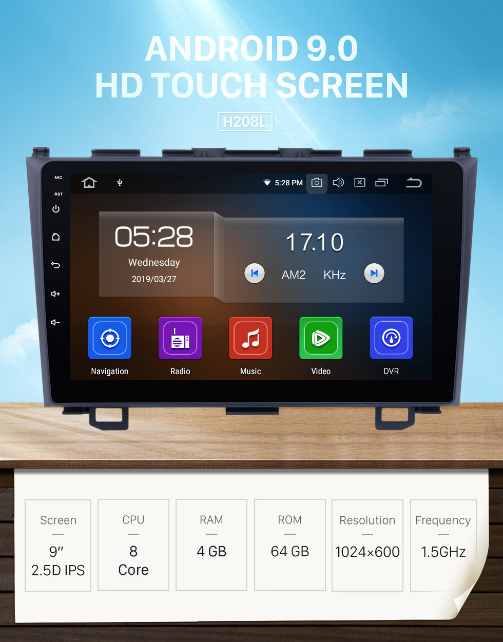 Seicane Android 9.0 GPS DVD Player for 2006 2007 2008-2011 Honda CRV Navigation system Support USB SD Bluetooth 3G WIFI Aux Rearview Camera Mirror Link OBD2 DVR