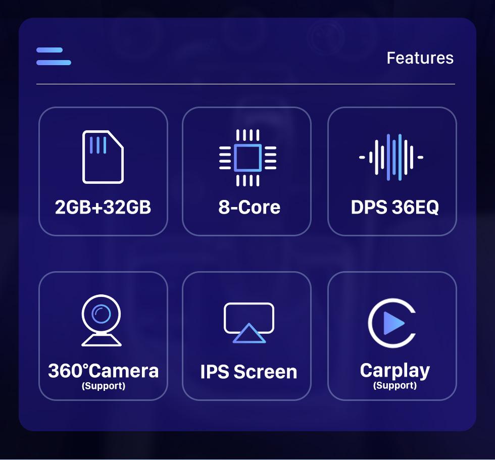 Seicane HD Touchscreen For 2002-2007 2008 2009 Toyota Prado Android 10.0 9.7 inch GPS Navigation Radio WIFI Bluetooth support TPMS Digital TV Carplay