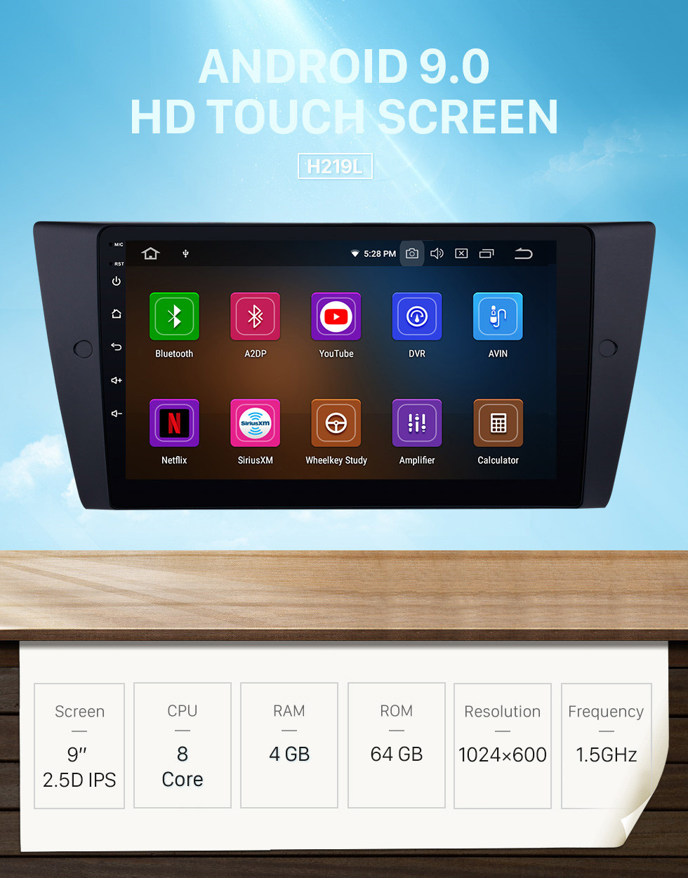 Seicane Android 9.0 Car DVD player for 2005-2012 BMW 3 Series E90 E91 E92 E93 316i 318i 320i 320si 323i 325i 328i 330i 335i 335is M3 316d 318d 320d 325d 330d 335d with gps radio tv bluetooth support DVR