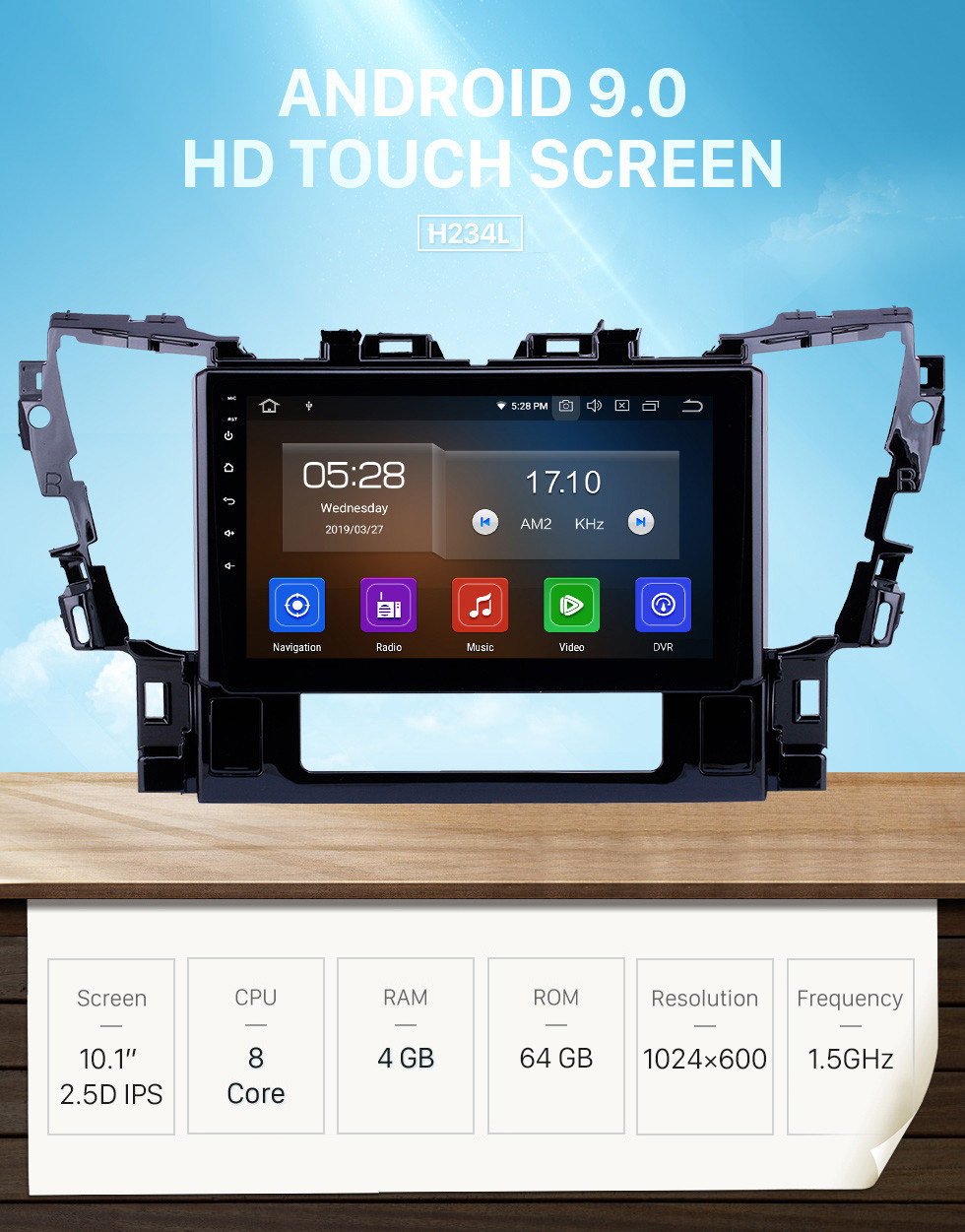 Seicane 10.1 inch Android 9.0 Radio for 2015 2016 Toyota Alphard Bluetooth Wifi HD Touchscreen GPS Navigation Carplay USB support DVR OBD2 Rearview camera