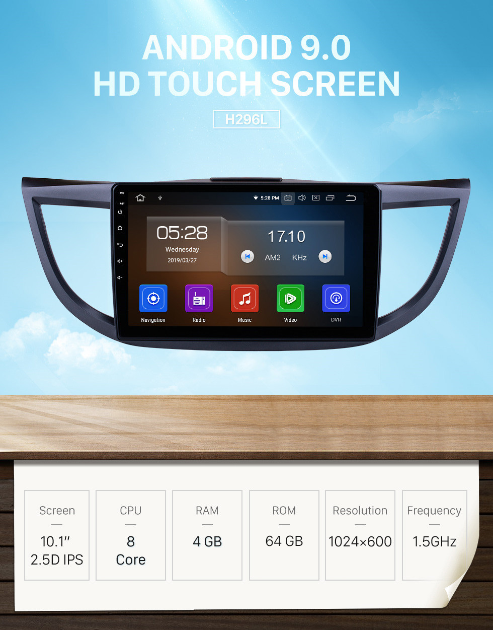 Seicane 10.1 Inch 2011-2015 Honda CRV high version with screen Android 9.0 Radio GPS Navigation system 3G WiFi Capacitive Touch Screen TPMS DVR OBD II Rear camera AUX Steering Wheel Control USB SD Bluetooth HD 1080P Video