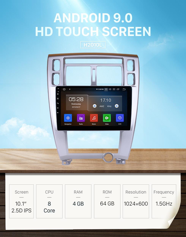 Seicane 2006-2013 Hyundai Tucson 10.1 inch HD Touchscreen Android 9.0 GPS Navigation System Head Unit Bluetooth Wifi Radio SWC Mirror Link USB Carplay support OBD2 TPMS