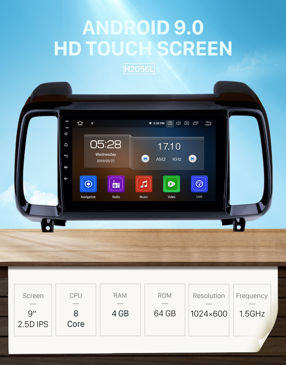 Seicane 9 inch 2018 Hyundai IX35 Android 9.0 HD Touchscreen GPS Navigation system Multimedia Player Bluetooth Radio Support DVR OBD II 3G/4G WiFi Rear camera Steering Wheel Control