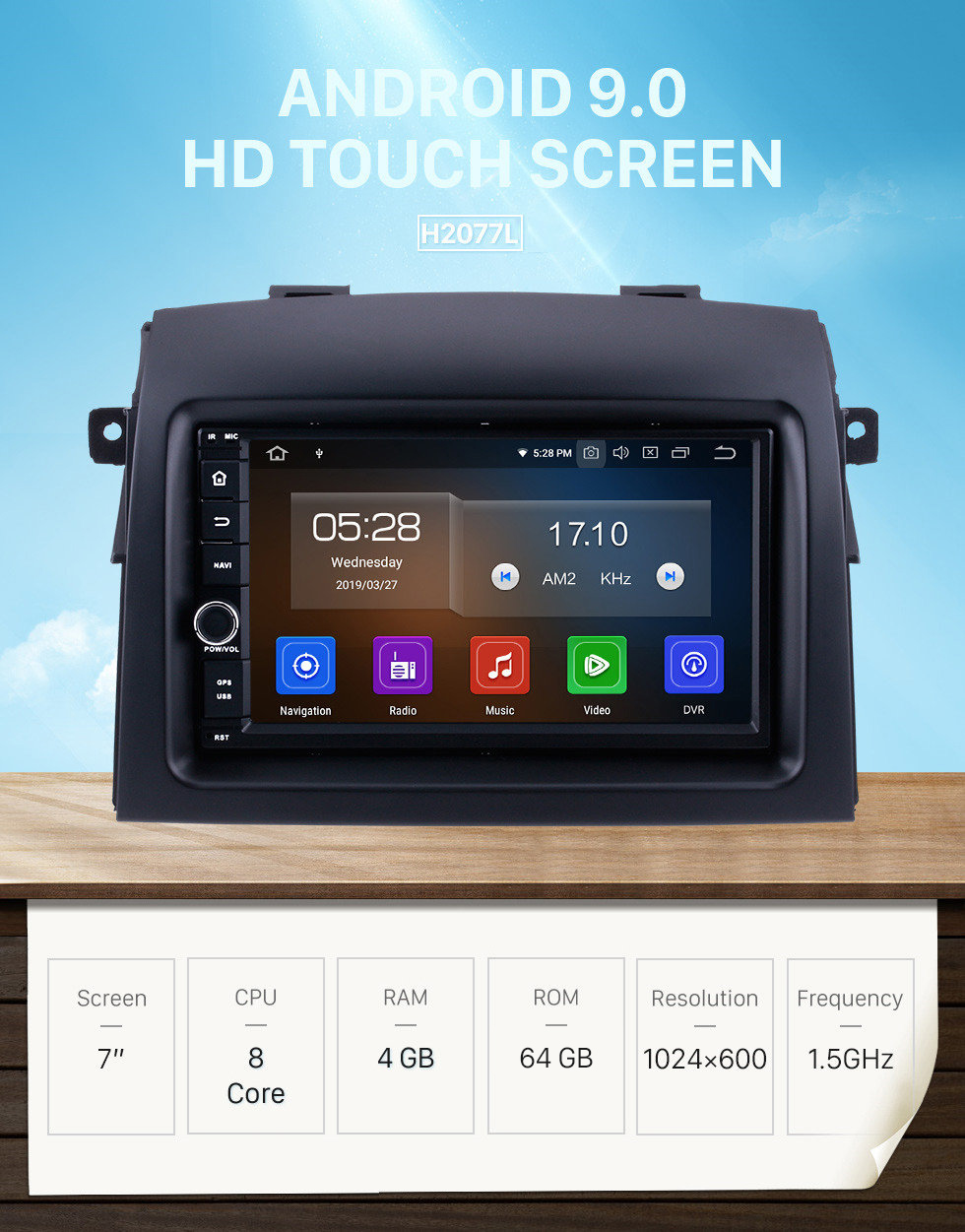 Seicane OEM Android 9.0 2004-2010 Toyota Sienna Radio GPS Navigation System with Bluetooth HD Touchscreen Mirror Link 4G WIFI AUX DVR 1080P DAB TPMS Backup Camera