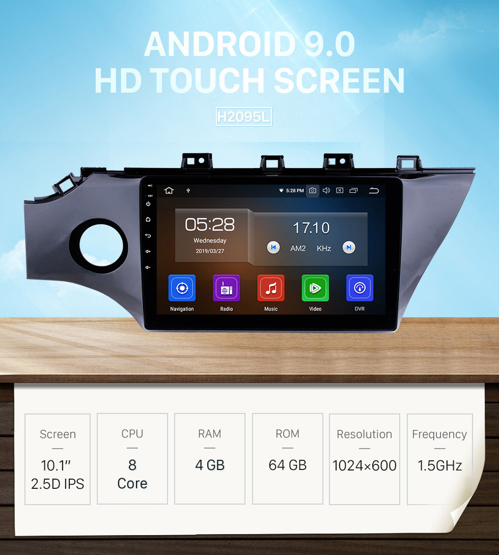 Seicane 10.1 inch 2017 2018 Kia Rio K2 Android 9.0 GPS Navigation System HD Touchscreen radio MP3 4G WiFi USB Rearview Camera Mirror Link