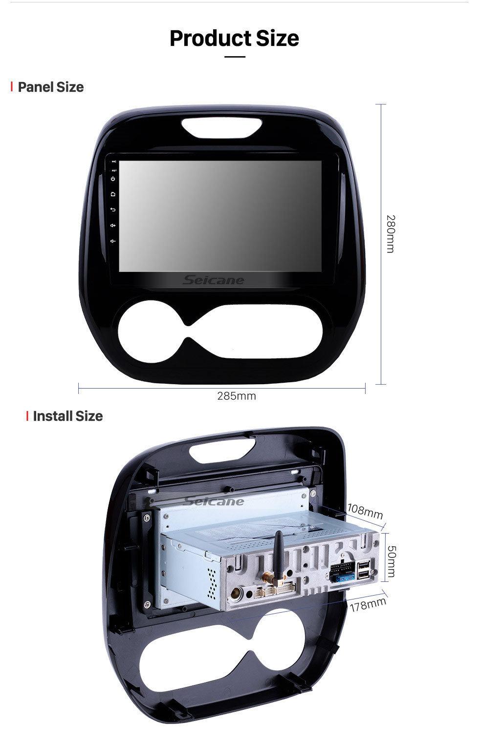 Seicane Android 9.0 9 Zoll 2011-2016 Renault Captur CLIO Samsung QM3 Auto A / C Radio GPS Navigation Bluetooth Stereo mit Audiosystem 1080P Video USB WIFI Spiegel Link Aux