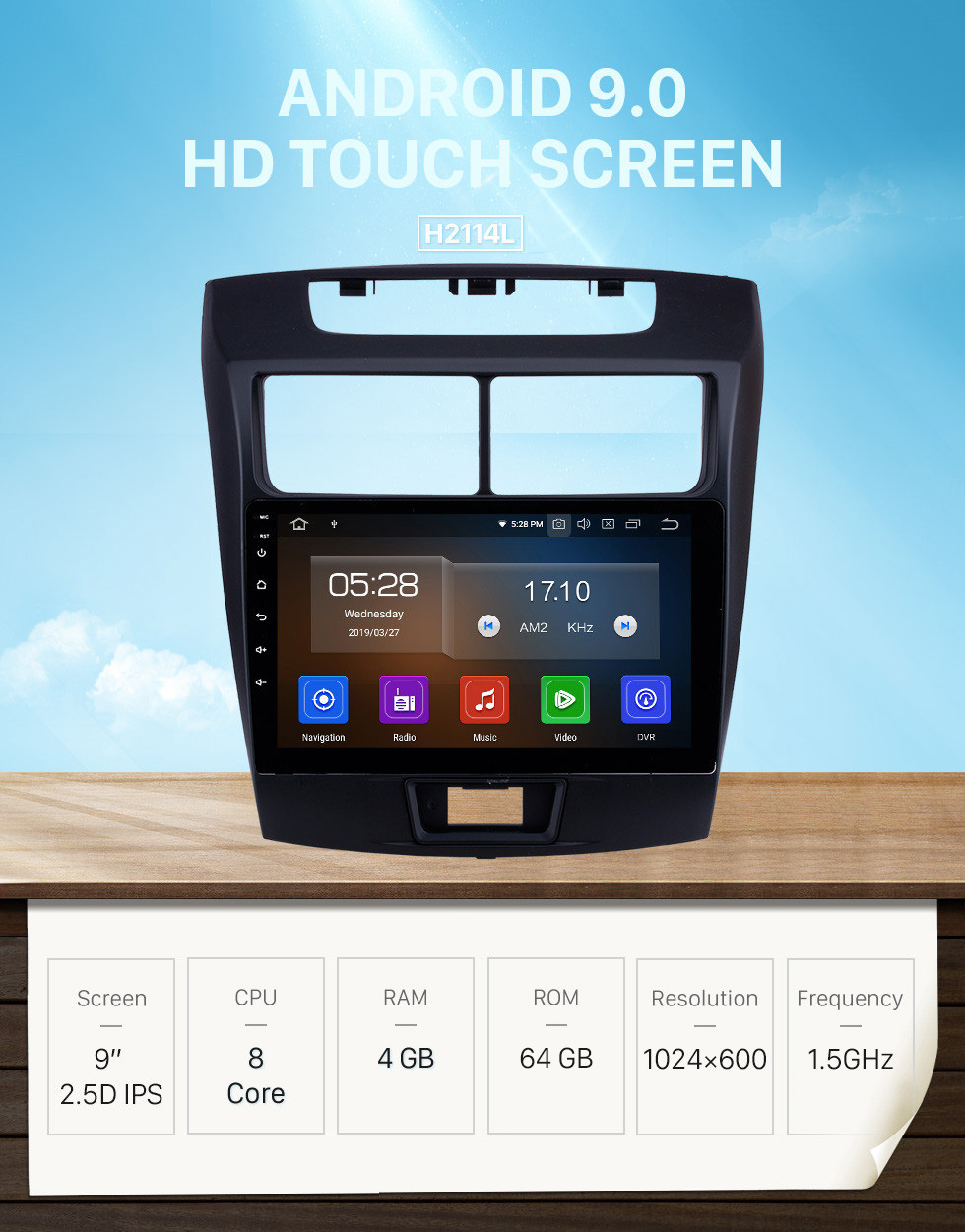 Seicane Android 9.0 Car Radio 9 inch HD Touchscreen Bluetooth GPS Navigation for 2010-2016 Toyota Avanza Head unit support 4G WIFI DVD Player 1080P Video USB Carplay Backup Camera TPMS
