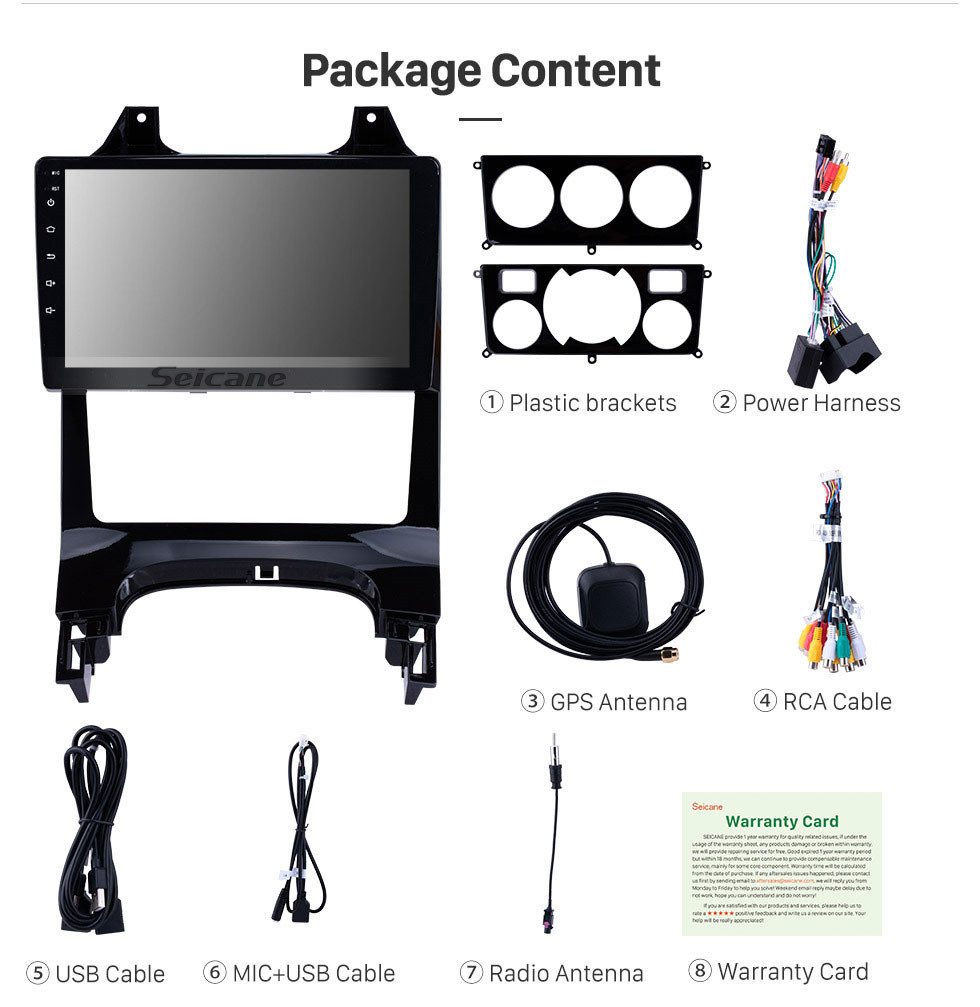 Seicane 2009-2012 Peugeot 3008 9 inch Android 9.0 1024*600 touchscreen Car Stereo Radio GPS Navigation System Bluetooth Music 4G WIFI 1080P Video Steering Wheel Control
