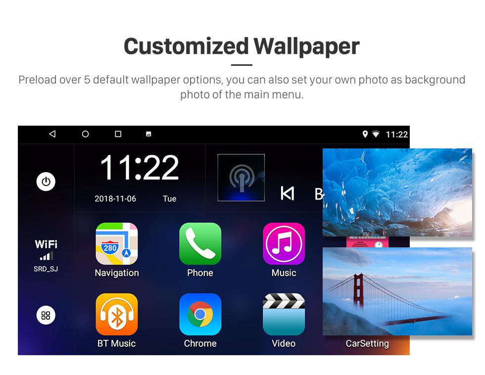 Seicane 2007-2017 KIA Sportage Auto A / C Android 8.1 Bluetooth-Radio GPS Navi-System Auto-Stereo mit WIFI AUX FM USB-Unterstützung DVR-Backup-Kamera TPMS OBD2 3G