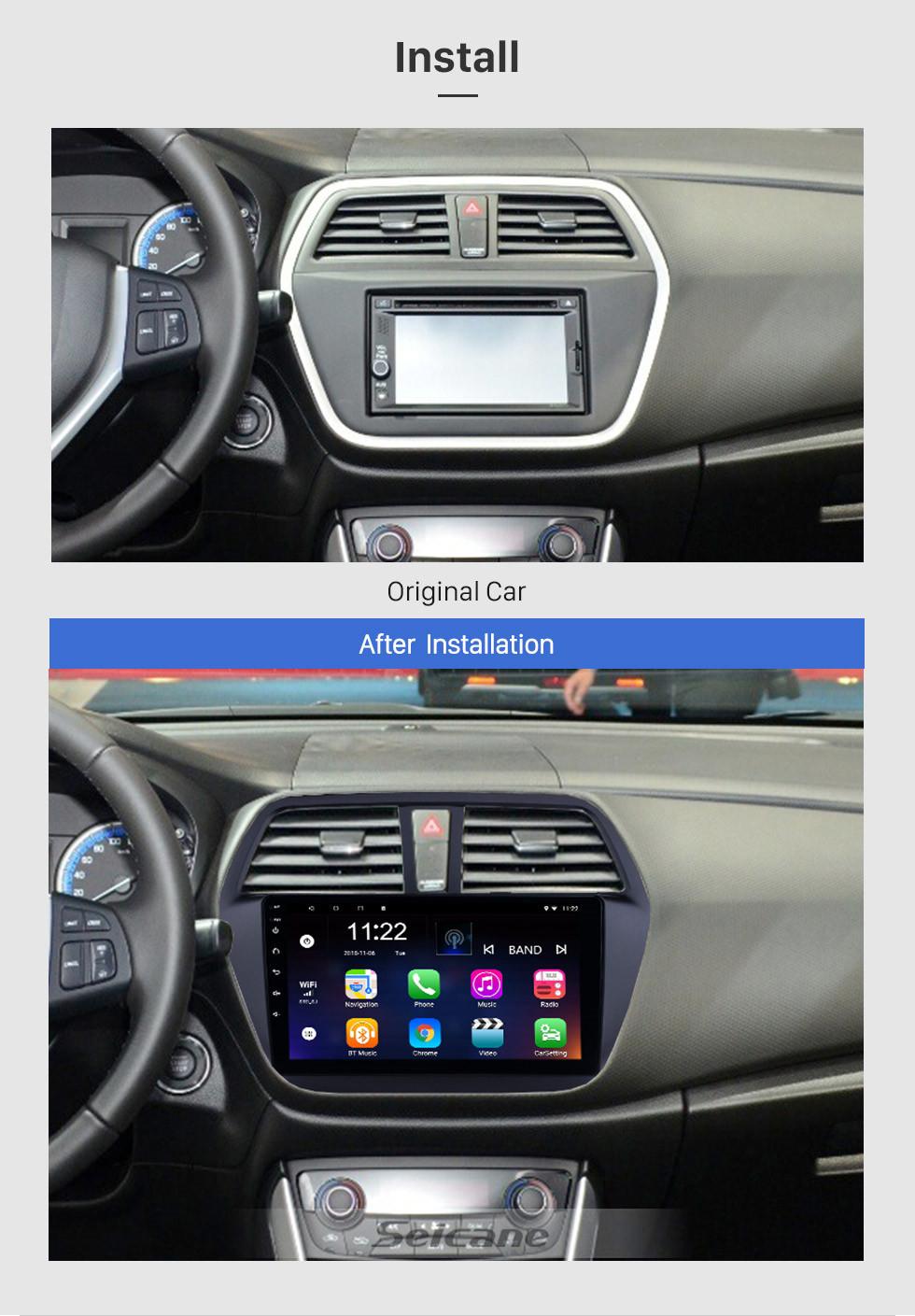 Seicane Android 8.1 9 polegada 2014-2017 Suzuki S-Cross SX4 HD Touchscreen Rádio Navi GPS Bluetooth suporte OBD2 DVR 3G WIFI SWC TPMS